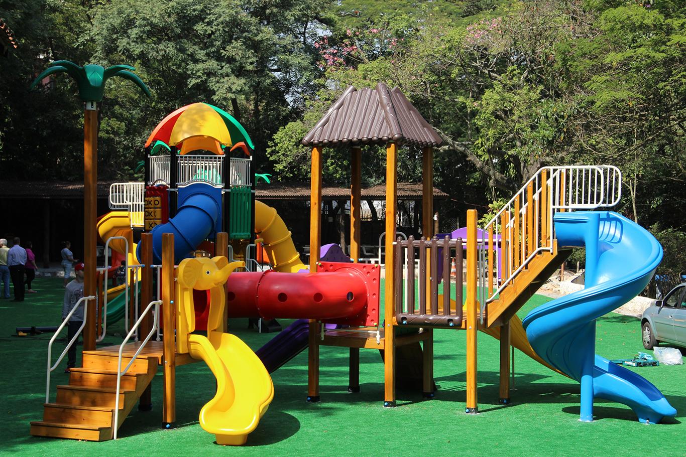 Parque das Hortênsias ganha novo playground